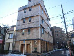 板橋区に木造軸組(KES構法)四階建てのビルが完成しました